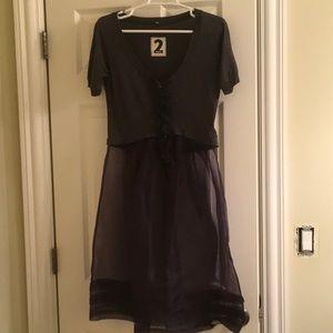 """Cotton/tulle """"2 ten"""" t-shirt dress"""